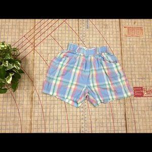 Pants - Retro/Vintage pastel madras short size small